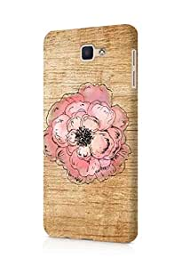 Cover Affair Wood / Flower Printed Back Cover Case for Samsung Galaxy On 7 2016