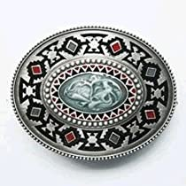 Native American Indian Artistic Belt Buckle (WT-102)