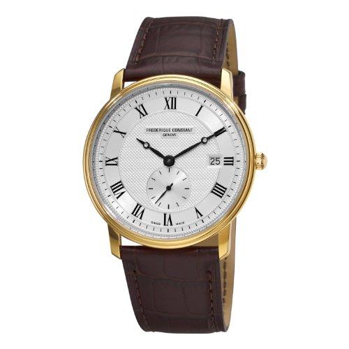 Frederique Constant Men's FC-245M5S5 Slim Line Silver Dial Roman Numerals Watch image