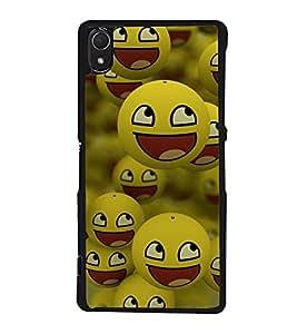 printtech Smiley Meme Happy Back Case Cover for Sony Xperia Z3 , Sony Xperia Z3 D6653 D6603