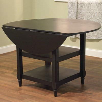 Cottage drop leaf dining table in black get updated for Black dining table with leaf