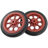 Shopping Basket Cart 4.4 Inch Wheels 2 Pcs Red Black