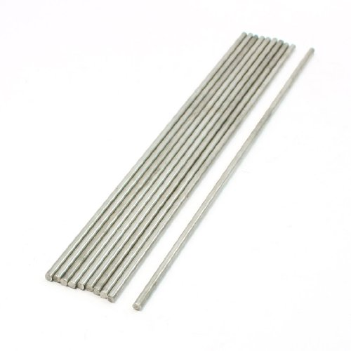 10 Pcs Stainless Steel 200x3mm Transmission Round Rod for RC Airplane