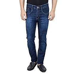 Mens Slim Fit Stretch Blue Denim Jeans For Men Size 28
