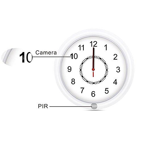 Ctronics Spy Camera Clock PIR Hidden Wall Clock Camera Spy Recorder