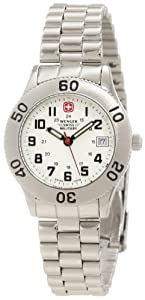 Wenger Swiss Military Women's 62960 Grenadier Brushed Stainless-Steel Analog Watch and Swiss Army Knife Gift Set
