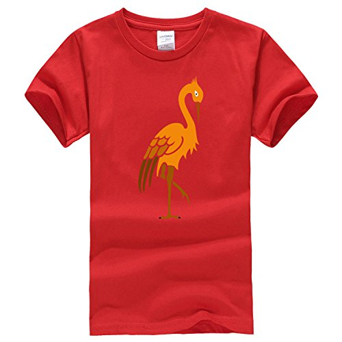 Thinking of the crane d'Arc short sleeve T shirt Small Red