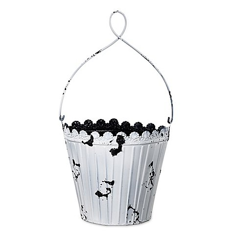 A&B Home Metal Indoor/Outdoor Bucket Planter in Rusted White (10 Gallon Galvanized Trash Can compare prices)