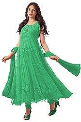 Ninecolours Women's Net Salwar Kameez Dress Material (SM0560504 _Green)