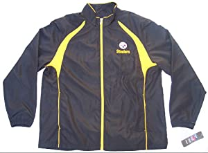 Pittsburgh Steelers Size X-Large XL Light Weight Sideline Jacket NFL XL NFL Authentic... by Reebok NFL Team Apperal