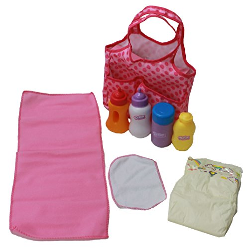 Mommy & Me 5 Pocket Diaper Bag With 7 Doll Care Accessories front-592224