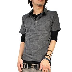 (バレッタ)Valletta 4color ジャガード 半袖 ポロシャツ 無地 5分袖 Tシャツ カットソー