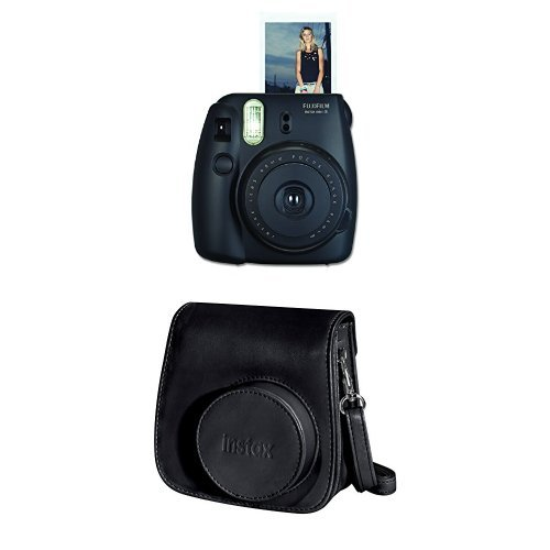 Sale!! Fujifilm Instax Mini 8 Instant Film Camera + Instax Groovy Camera Case (Black)