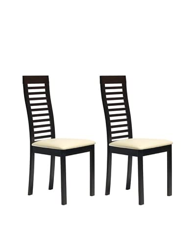 Aeon Set of 2 Euro Home Collection Denver Chairs, Coffee