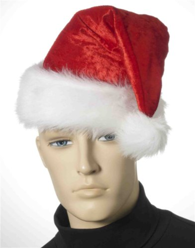 Velour Santa Hat Adult Accessory