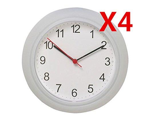 """Ikea Wall Clock White (4 Pack) 9.75"""""""