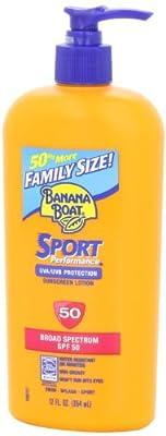 Banana Boat Sport SPF 50 Family Size Sunscreen Lotion, 12-Fluid Ounce