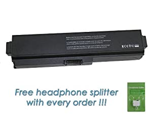 Toshiba PA3819U-1BRS Laptop Battery for Toshiba Satellite C655D-S5139 - Premium DS Miller 12 Cell Battery with FREE Headphone Splitter