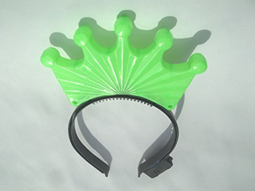 [Statue of Liberty Plasstic Crown Green Color and Flashing Led Lights] (Statue Of Liberty Costume Crown)