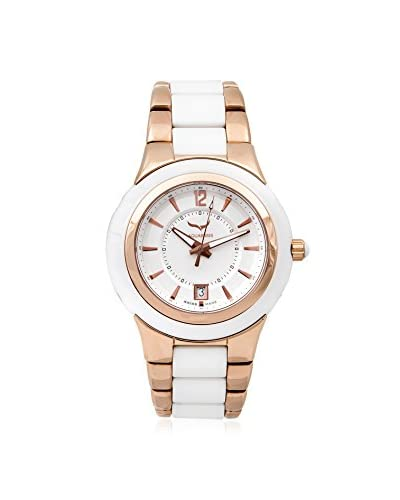 Aquaswiss Women's 61M003 White/Rose Gold Stainless Steel, Ceramic Watch