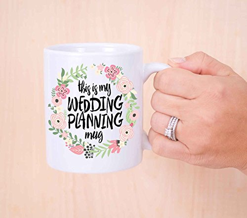 Wedding Planning Mug - Gift for Bride or Planner, Gift for Her Coffee Lover or Tea Lover Bridal Shower Bride to Be