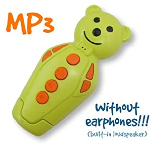 Anise green/Orange Bidou 2GB - Baby MP3 player with built-in loudspeaker