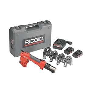 Ridgid 43428 RP 200 Battery Press Tool Kit with ProPress Jaws, 1/2-Inch, 1-1/4-Inch