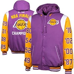 NBA Los Angeles Lakers NBA Champs Commemorative Button Fleece Hoodie Jacket - Purple... by G-III Sports