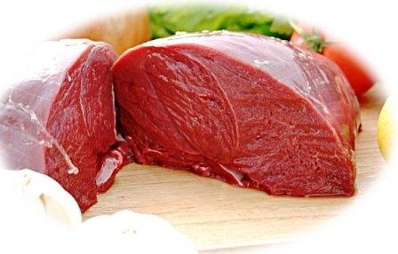 北海道特産 えぞ鹿もも肉 冷凍1.0kg