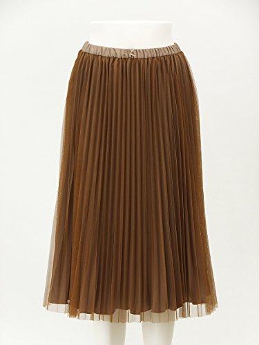 (フランシュリッペ*ブラック)franche lippee*black プリーツチュールスカート キャメル Mサイズ