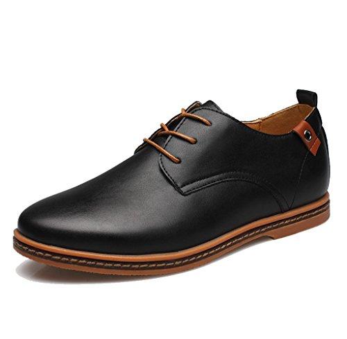 SITAILE Uomo Lace Up Classic il comfort di moda traspirante Scarpe stringate basse Oxford stringata uomo,BL,48