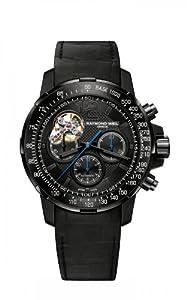 Raymond Weil Nabucco Chrono Open Balance Wheel PVD Watch 7830-bk-05207