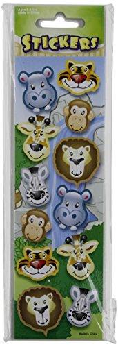 Rhode Island Novelty 144 Zoo Animal Stickers, 12 Sheet front-965442