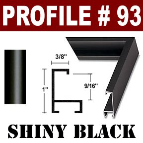 28 x 32 1/8 Custom Poster Frame #93 CL FO Shiny Black