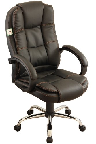 Executive High Back Black Color PU Leather Chrome Base Office Chair Black 14 MO