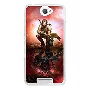 a AND b Designer Printed Mobile Back Cover / Back Case For Sony Xperia E4 (SON_E4_1113)