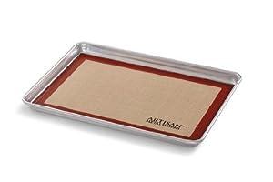 Artisan Metal Works 80706WH 2 3-Size Baking Sheet and 2 3-Size Silicone Baking Mat Set,... by Artisan Metal Works