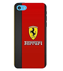 TOUCHNER (TN) Red Horse Back Case Cover for Apple iPhone 5C