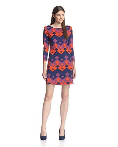 JB Julie Brown Women's Goldie Geo Print Shift Dress