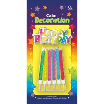 shimr birthday cake decoration kit - 1