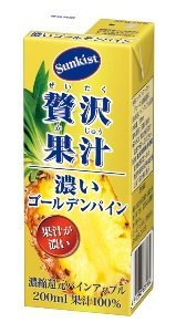 森永 サンキスト(R)100% 贅沢果汁 濃いゴールデンパイン 200ml 24本