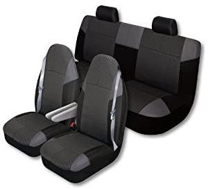 Auto Expressions 804302 HIGHLAND Big Truck 3 piece Black Seat Cover Kit