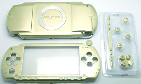 Gold PSP 1000 Series Full Shell Cover Housing Replacement with Button Set