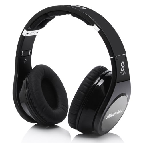 Bluedio Brand R 8 Track Hi-Fi Wireless Bluetooth 3.0 Headset Headphones With Micr (Black)