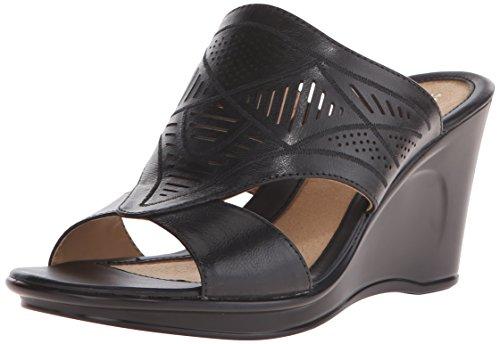 Naturalizer Women S Viola Wedge Slide Sandal Black
