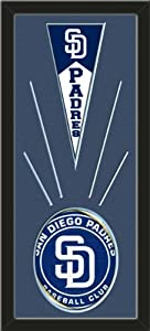 San Diego Padres Wool Felt Mini Pennant & San Diego Padres Team Logo Photo -... by Art and More, Davenport, IA
