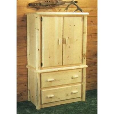 Viking Log Furniture Northwoods 2 Drawers Armoire