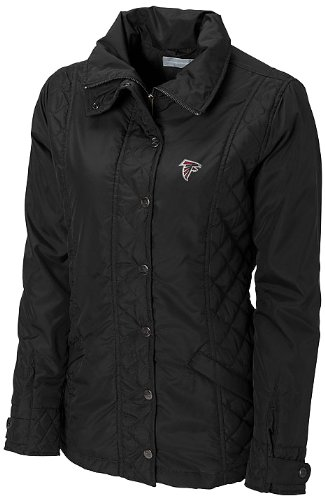 NFL Atlanta Falcons Women's CB WeatherTec Granite Falls Jacket, Black, Large