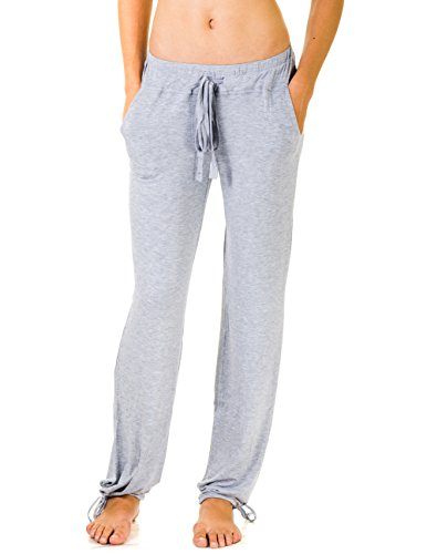 Daisy Fuentes Womens Rayon Relaxed Fit Pants With Drawstring Waist And Ankles (Small, Heather Gray)