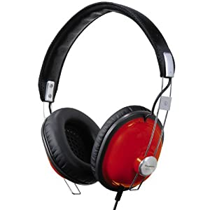 Panasonic RP-HTX7-R1 Monitor Stereo Headphones (Red)